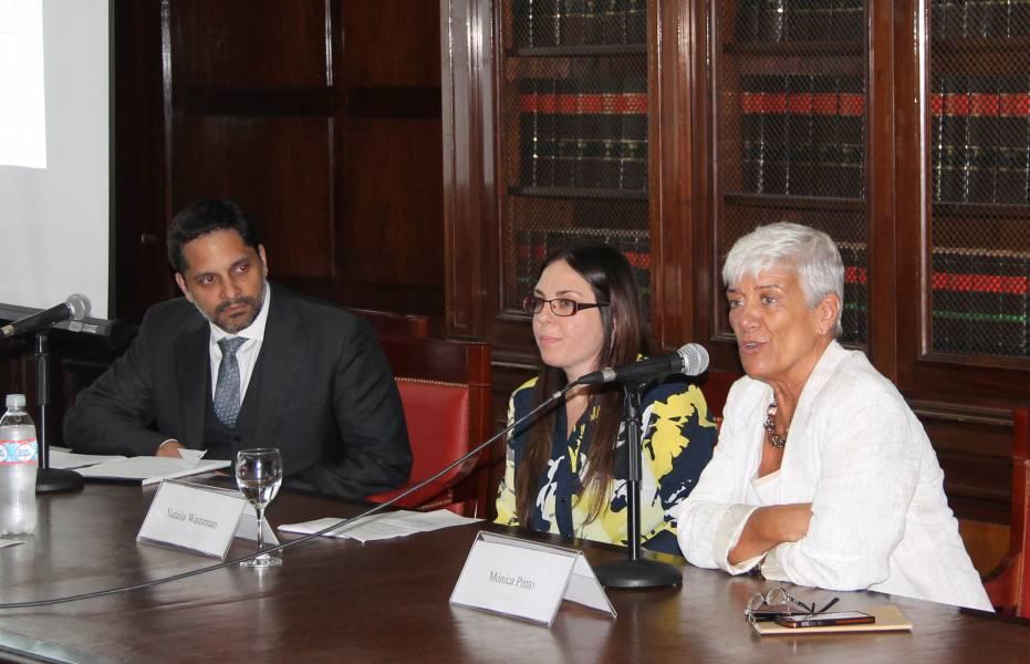 Eduardo M. Peñalver, Natalia Waitzman y Mónica Pinto