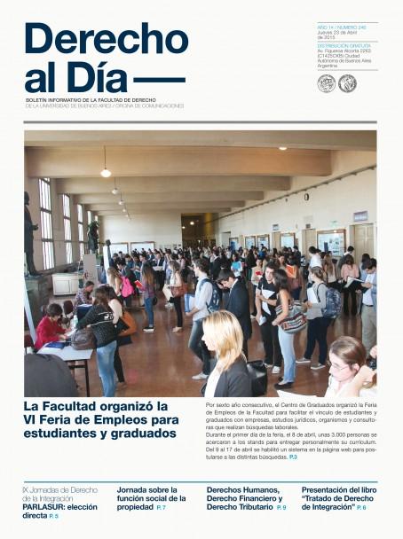 Tapa de Derecho al Día - Edición 246