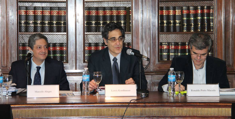 Marcelo Alegre, Lewis Kornhauser y Ronaldo Porto Macedo
