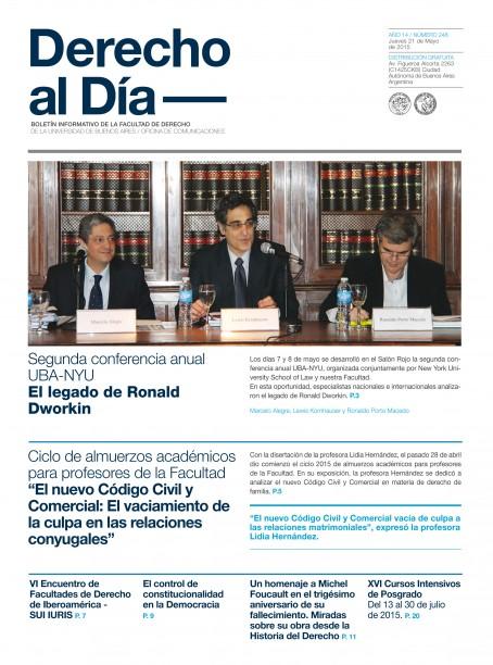 Tapa de Derecho al Día - Edición 248