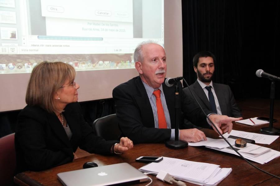 Mabel A. de los Santos, Jorge L. Kielmanovich y Germán Hiralde Vega