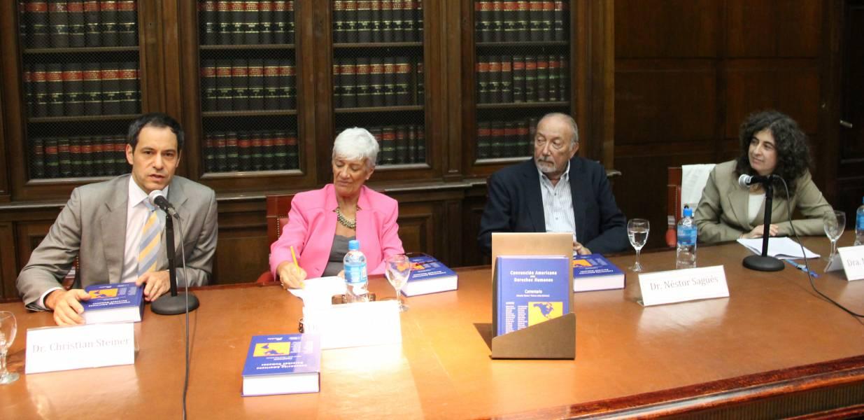 Christian Steiner, Mónica Pinto, Néstor Sagüés y Mary Beloff