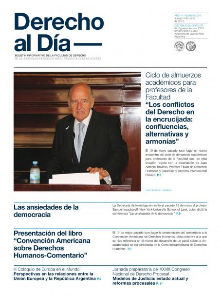 Tapa de Derecho al Día - Edición 249