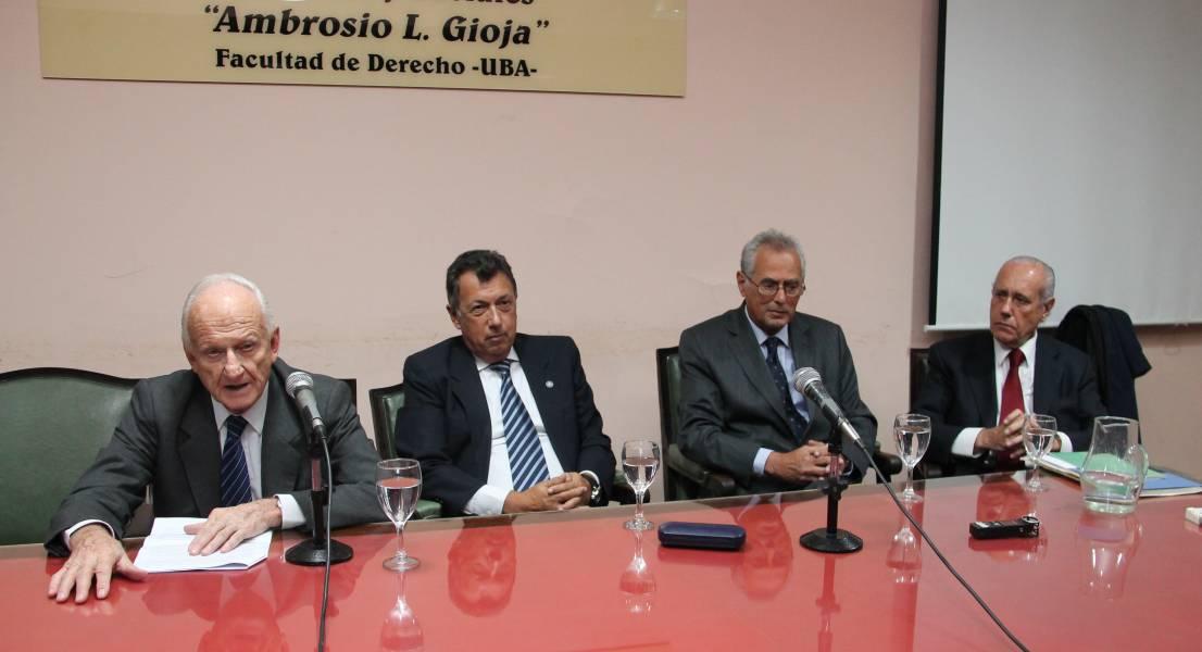 Gregorio Badeni, Alberto Dalla Via, Manuel Solanet y Jorge Reinaldo Vanossi