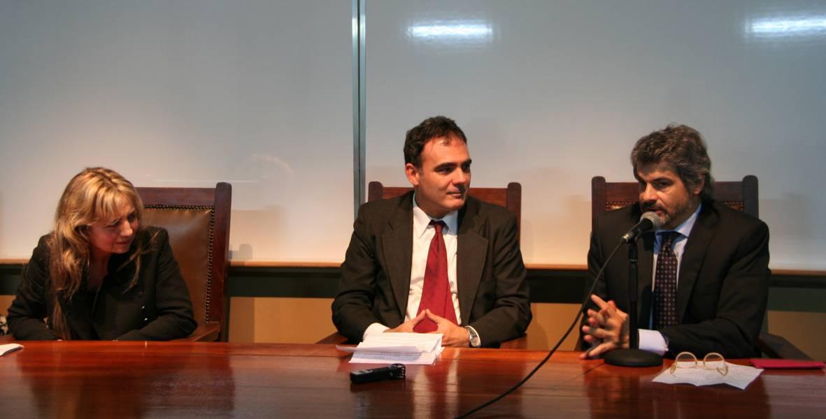Virginia Badino, Juan A. Seda y Leandro Vergara