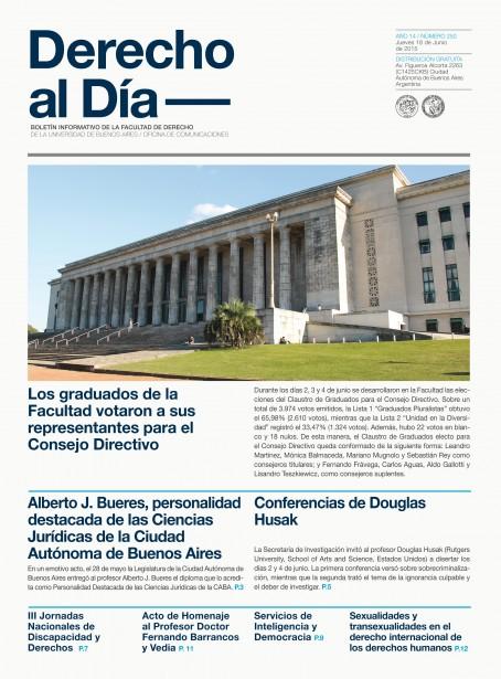 Tapa de Derecho al Día - Edición 250
