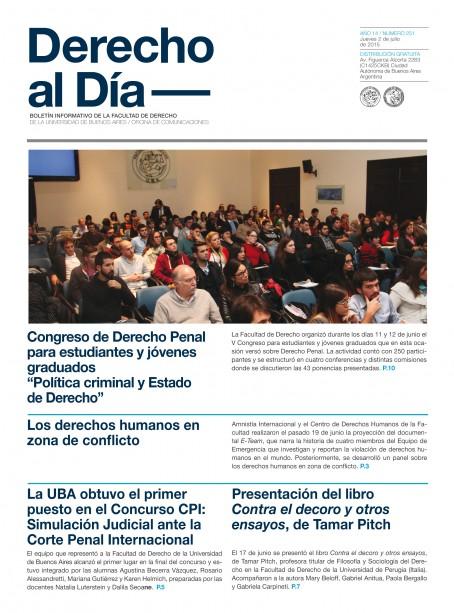 Tapa de Derecho al Día - Edición 251