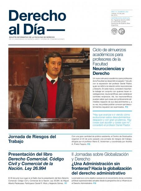 Tapa de Derecho al Día - Edición 252