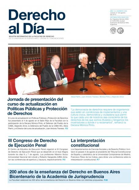 Tapa de Derecho al Día - Edición 253