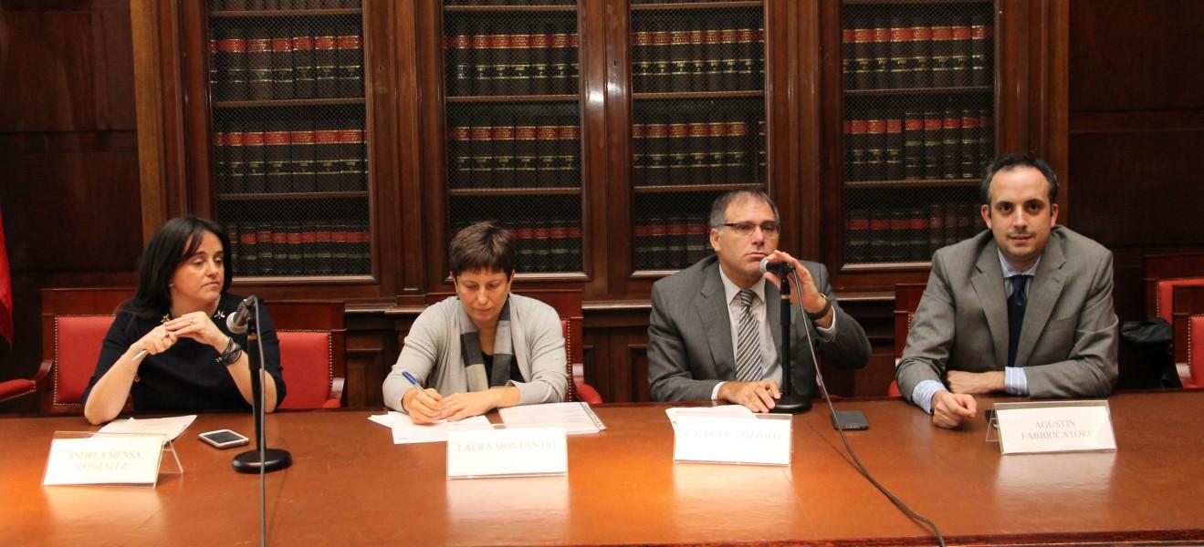 Andrea Mensa González, Laura Montanari, Calogero Pizzolo y Agustín Fabbricatore