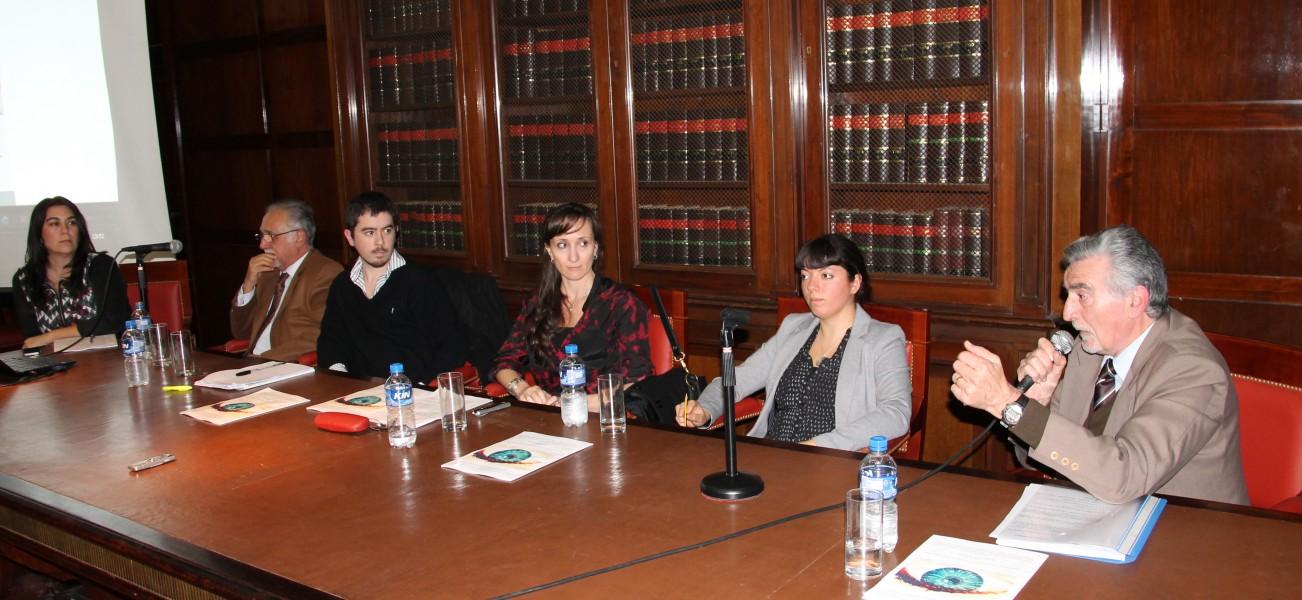 Paula Rómulo, Eduardo Molina Quiroga, Andrés Pérez Esquivel, Valeria Milanés, Eugenia Carrasco y Eduardo Peduto
