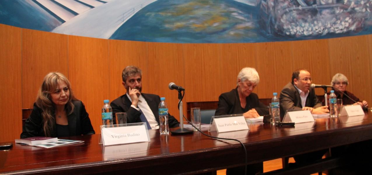 Virginia Badino, Juan Pablo Mas Velez, Mónica Pinto, Oscar Zoppi y Andrea Mercedes Pérez