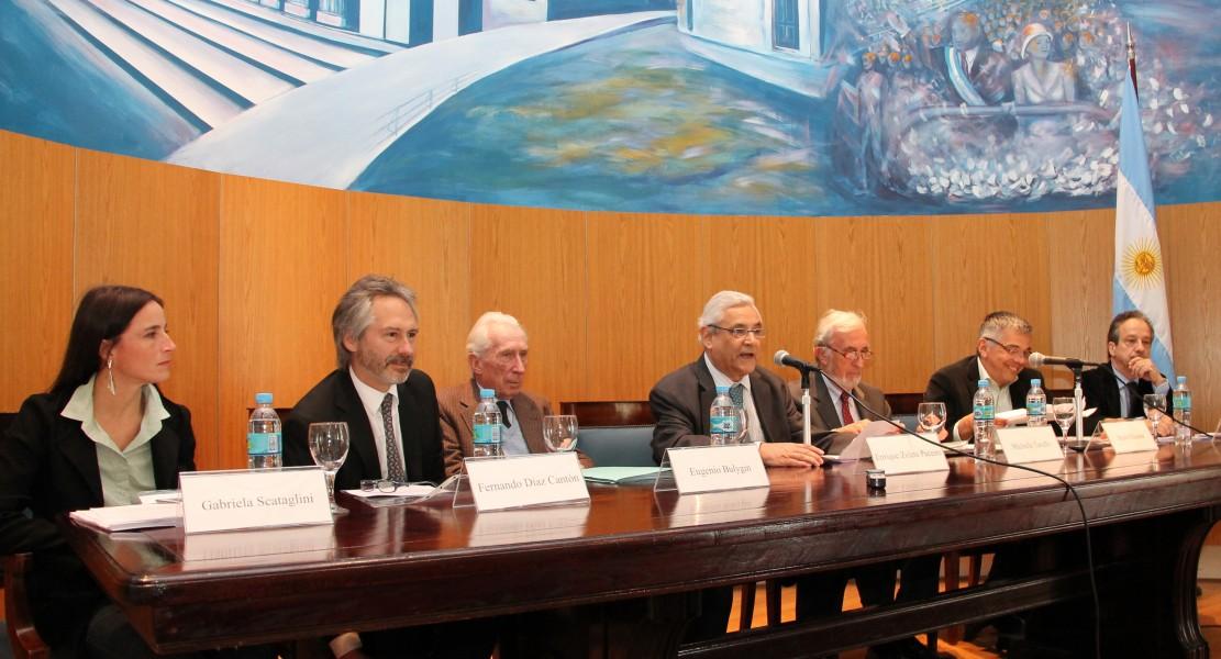 Gabriela Scataglini, Fernando Díaz Cantón, Eugenio Bulygin, Enrique Zuleta Puceiro, Michele Taruffo,Mario Chaumet y Jorge Douglas Price