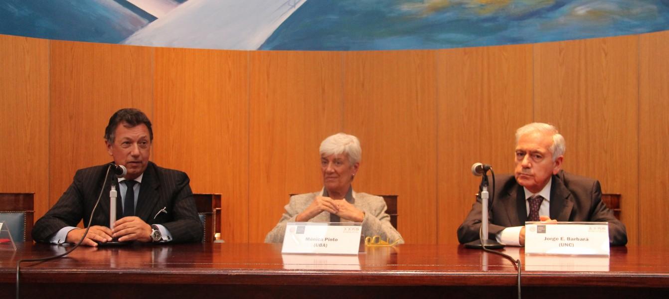 Alberto Dalla Via, Mónica Pinto y Jorge Barbará