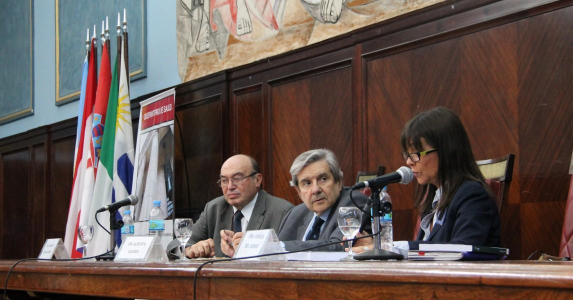 Roberto Cherjovsky, Alberto J. Bueres y Mónica Teresita del Cerro