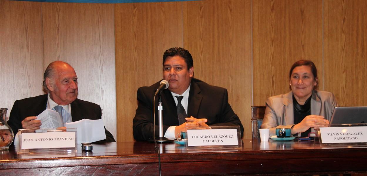 Juan Antonio Travieso, Edgardo Velázquez Calderón y Silvina González Napolitano