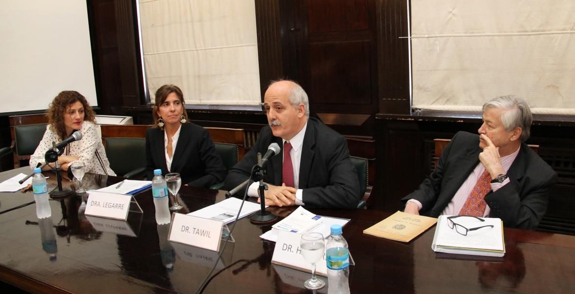 Sofía Reca, Catalina Legarre, Guido Tawil y David Halperín