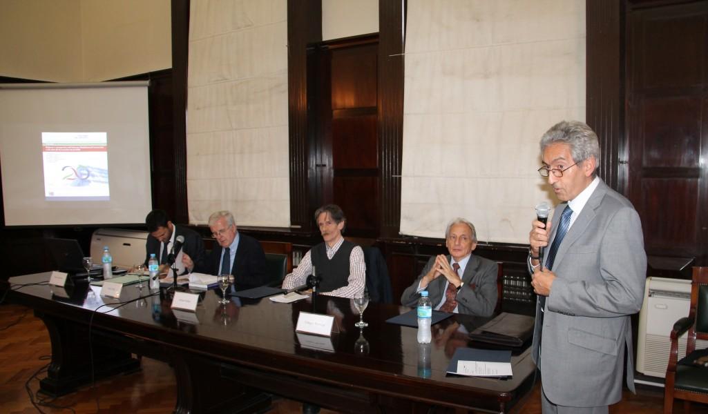 Alfredo López Bravo, Félix Peña, Adrián Makuc, Enrique Barreira y Carlos M. Correa