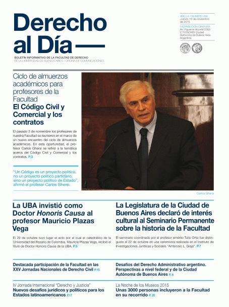 Tapa de Derecho al Día - Edición 259