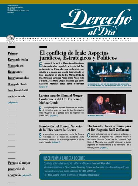 Tapa de Derecho al Día - Edición 26