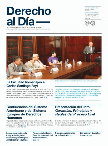 Tapa de Derecho al Día - Edición 263