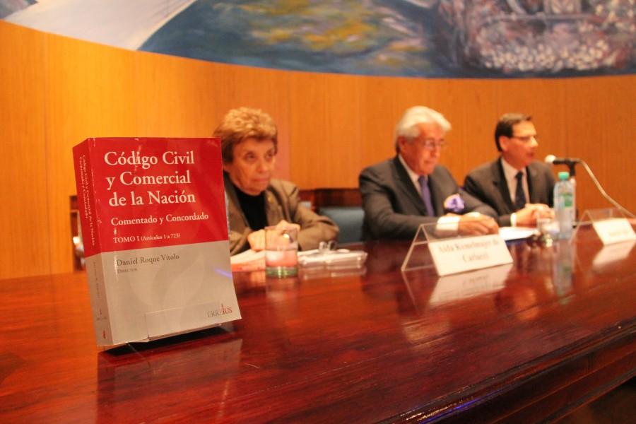 Aída Kemelmajer de Carlucci, Daniel Roque Vítolo y Marcelo Perciavalle