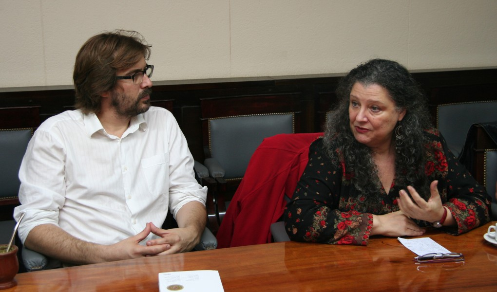 Martín Sigal y Diana Maffía