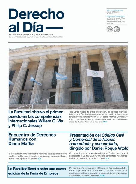 Tapa de Derecho al Día - Edición 264