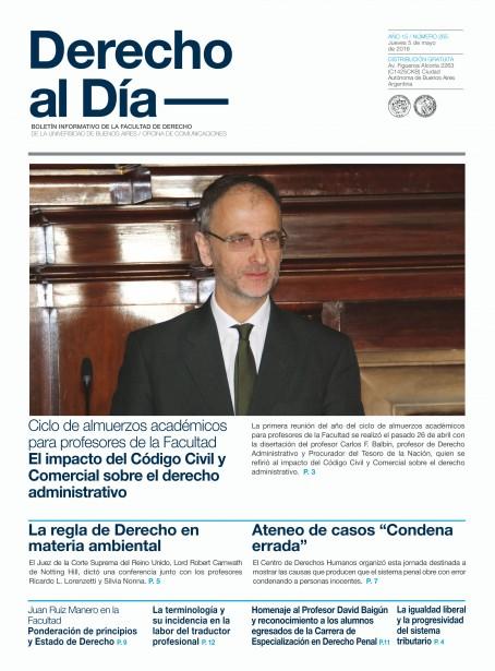 Tapa de Derecho al Día - Edición 265