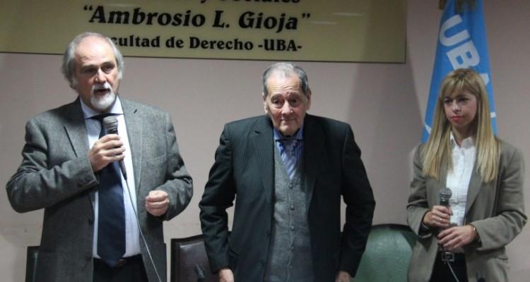 Marcos M. Córdoba, Luis Moisset de Espanés y Noelia Ruiz