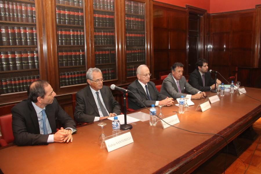 Fulvio Santarelli, Manuel Solanet, Gregorio Badeni, Alberto Ricardo Dalla Via y Damián Pizarro
