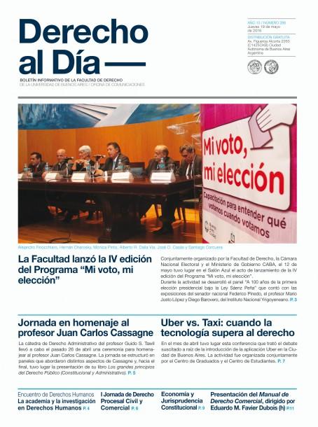 Tapa de Derecho al Día - Edición 266