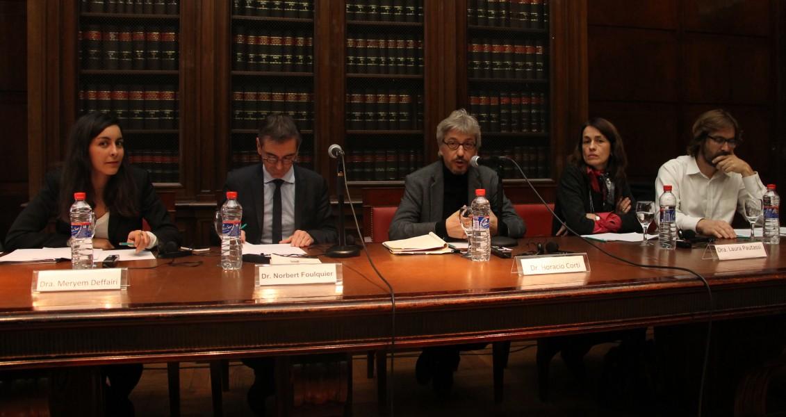 Meryem Deffairi, Norbert Foulquier, Horacio Corti, Laura Pautassi y Martín Sigal