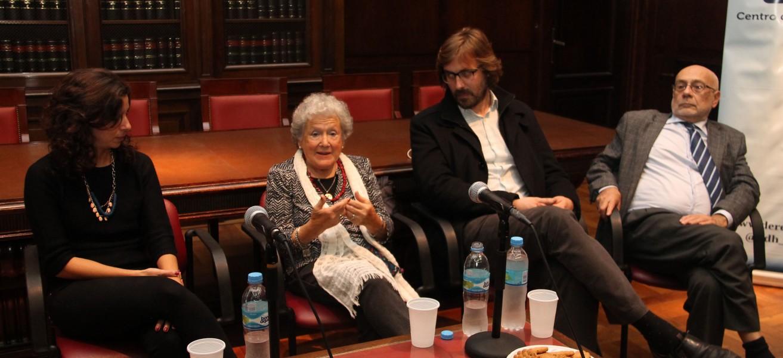 Lucila Galkin, Nora Cortiñas, Martín Sigal y Julio Raffo