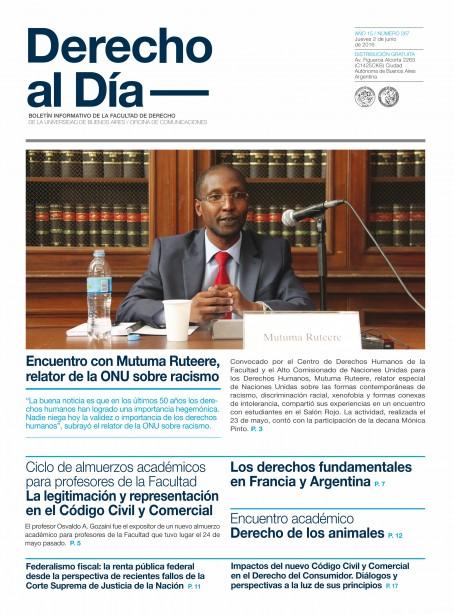 Tapa de Derecho al Día - Edición 267