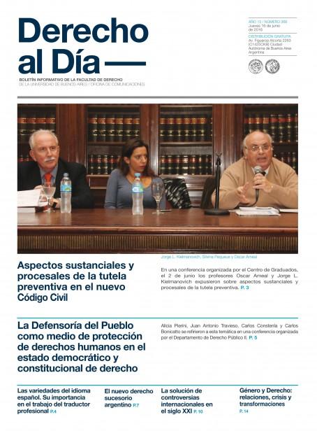 Tapa de Derecho al Día - Edición 268