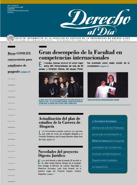 Tapa de Derecho al Día - Edición 27