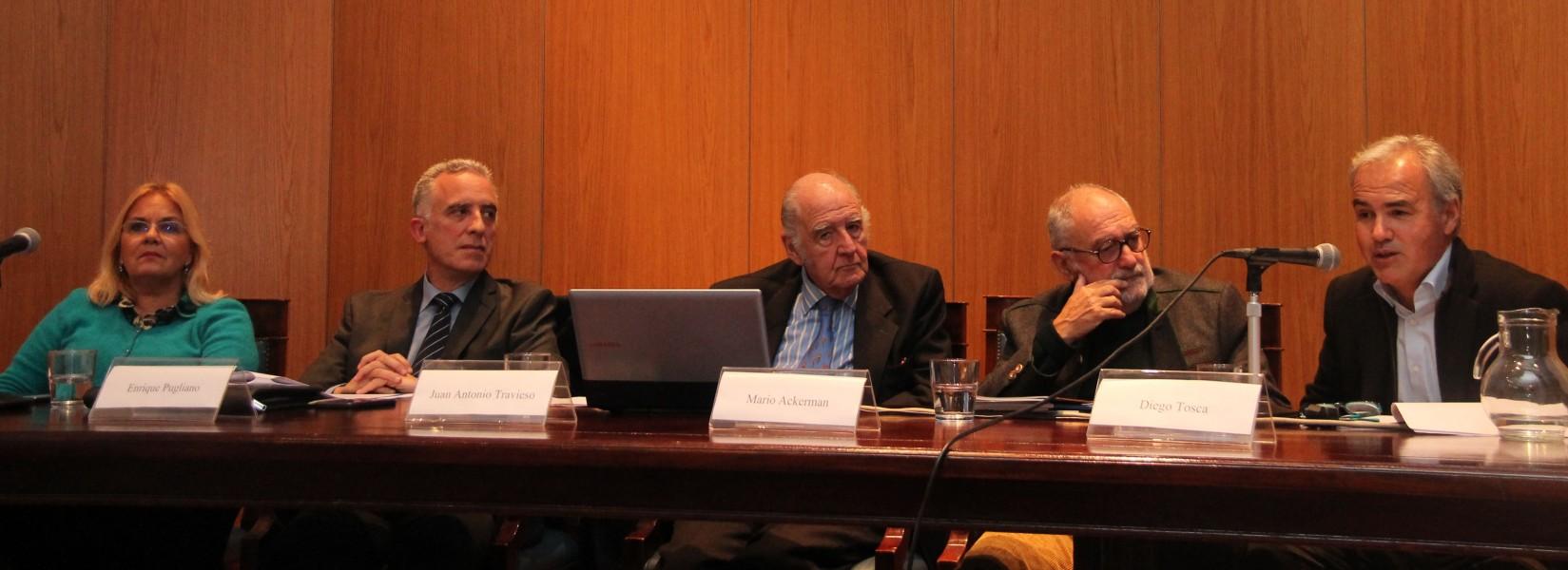 Nerina Da Rin, Enrique Pugliano, Juan Antonio Travieso, Mario Ackerman y Diego Tosca