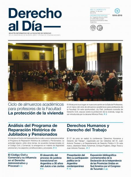 Tapa de Derecho al Día - Edición 270