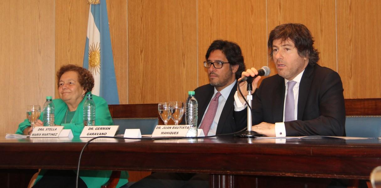 Stella Maris Martínez, Germán Garavano y Juan B. Mahiques