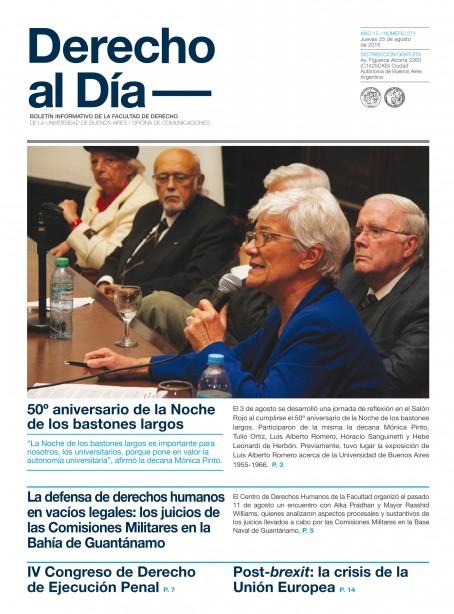 Tapa de Derecho al Día - Edición 271