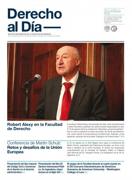 Tapa de Derecho al Día - Edición 272