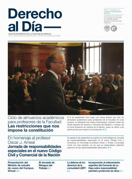 Tapa de Derecho al Día - Edición 273