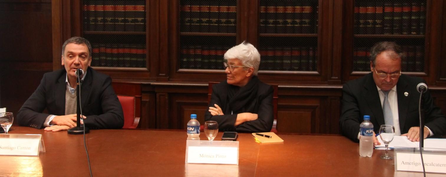 Santiago Cantón, Mónica Pinto y Amerigo Incalcaterra