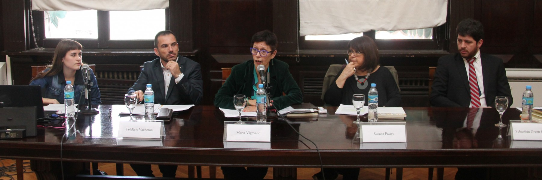 Lucía Belén Araque, Frederic Vacheron, Marta Vigevano, Susana Pataro y Sebastián Green Martínez