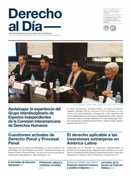 Tapa de Derecho al Día - Edición 276