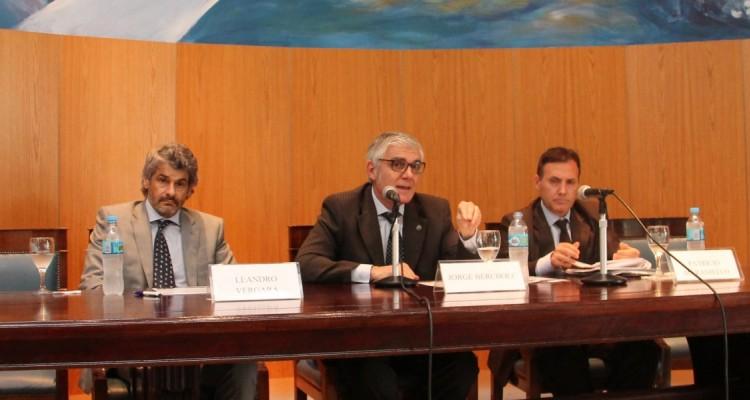 Leandro Vergara, Jorge Bercholc y Patricio Maraniello
