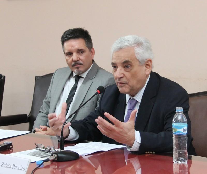 Juan Pablo Alonso y Enrique Zuleta Puceiro