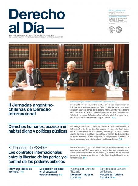 Tapa de Derecho al Día - Edición 278