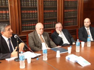 Alejandro Garro, Gustavo Carranza Latrubesse, Alberto Zuppi y Rodrigo Dellutri